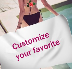 Customized Photo Logo Bath Towel Towels Bathroom for Adult Beach Towel Microfiber Shower Large Swimming Cover Quick Dry Under 10