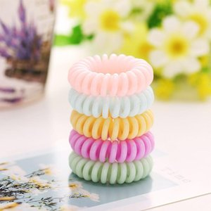 Macaron Telephone Wire hairband candy color Ponytail Holder Elastic Phone Cord Line hair tie accessories kid gift
