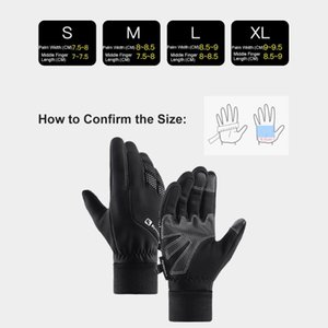 Cycling Gloves Hand Warmer Sensitive Screen Touching  Waterproof  Elastic Cuffs Design For Outdoor Activities Fishing Skiing