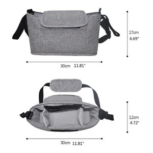 Stroller Parts & Accessories Multi-pocket Baby Organizer Bag Waterproof Stuff Nappy Cup Holder Carriage Pram By Cart Bottle K1KC