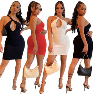 summer sexy women dress new Fashion casual one shoulder Slim skirt womens hollow out nightclub hip dress 8677