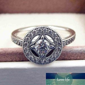 Original Vintage Pave Allure With Crystal Rings For Women 925 Sterling Silver Ring Wedding Party Gift Fine Europe Jewelry Factory price expert design Quality Latest