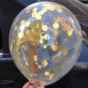 "Clear Balloons 5Pcs 12"" Confetti Party Wedding Decoration Kids Birthday Supplies Air Balloon Toys"