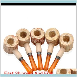 Household Sundries Home & Gardenmen Disposable Corn Pipe Adult Handmade Natural Corncob Pipes Portable Original Smoking Aessories 1 16Yd J2