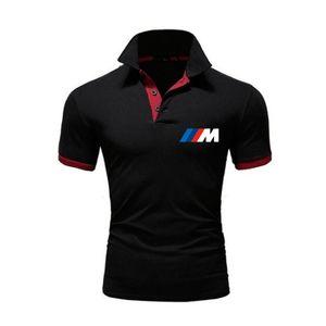 T Gömlek BMW Baskı Renk Eşleştirme Yaz Kısa Kollu Rahat erkek Üst Moda Polo Trendy Marka {Kategori}