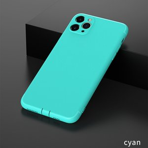 Silicone Cover Matte Phone Cases Shell with Dust Cap For iPhone 12 11 Pro X Xr Xs Max 8 7 6 6S Plus Soft Slim Case TPU
