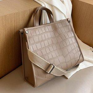 Shoulder Stone Leather Lady Pattern Women PU Handbag 2021 Bag Capacity Designer Strap Female Zs7P Totes Brand Wide Large Hand New G Dccwu