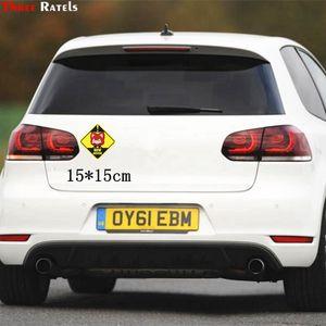 Three Ratels TZ-1769# 15x15cm new driver car stickers funny sticker auto decals