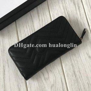 Women wallet purse genuine leather original box zipper fashion high quality whole sale discount