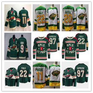 2022 Invierno Classic Wild Hockey Minnesota 22 Kevin Fiala Jersey 97 Kirill Kaprizov 46 Jared Spurgeon 11 Zach Parise 24 Matt Dumba Ryan Suter Retro Retro MPLs St Paul