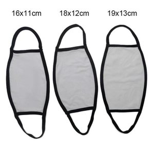 Blanks Sublimation Face Mask Adults Kids Dust Prevention For DIY Transfer Print Masks GWC7368