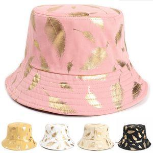 Summer Bucket Hat Fisherman cap women Men Gift wide brim Floral Universal Outdoor Travel Sun beach hats DB684