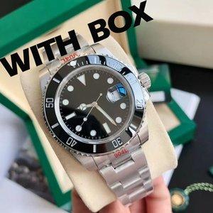 Мужская автоматическая механическая керамика Часы 41 мм Полный из нержавеющей стали Скользящая застежка для плавания Наручные часы Сапфировые Световые часы U1 Фабрика Montre de luxe
