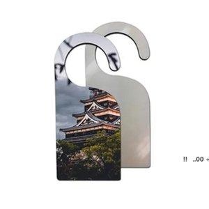 De madeira feita tintura sublimação mdf placa de placa gotejamento decoração sinal de suspensão sem perturbação ganchos de porta EWD5996