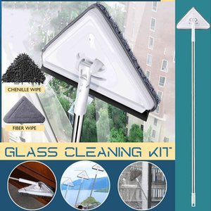 New Telescopic High-rise Cleaning Glass Sponge Mop Multi Cleaner Washing Dust Brush Easy Clean The Windows