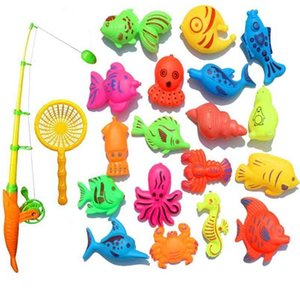 Creative Toy 22-piece Magnetic Fishing Toy Set Bath Toys High Quality Exquisite 210901