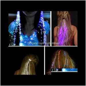 Flashing Colorful Flash Led Braid Clip Hairpin Decoration Rgb Ligth Up For Show Party Dance Christmas Halloween Light Hair Bsup8 Ikxwp