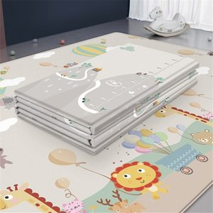 Foldable Cartoon Baby Play Mat LDPE Puzzle Children Mat Baby Climbing Pads Kids Rug Baby Games Mats Kids Rug Foam Carpet 210401