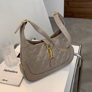 BURMINSA Half Moon стеганые сумки на плечо для женщин замок дизайн большие емкости рабочие женские сумки мягкие HOBO Crossbody 2021 Cross Code