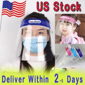Stati Uniti Stock Protezione viso Shield Scudo Cancella Maschera Anti-FOG Full Face Masks Trasparente Visiera PROTEZIONE PROTEZIONE SICUREZZA PER L'ADULTI ADULTI BAMBINI BAMBINI BAMBINI C2992