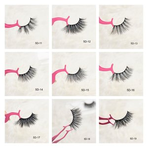 DHL Fluffy 25mm False Eyelashes Natural 3D Mink Hair Lashes Wispy Long Full Strip 5D Fake Eye Lash Book Vendor Wholesales