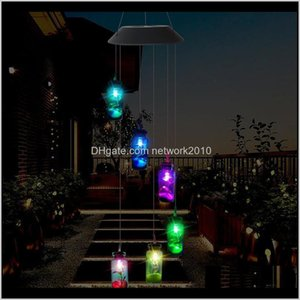 Decorations Led Solar Light Outdoor Wind Chimes Lights Romantic Wishing Bottle Starfish Windbell String Lamp For Home Garden Yard Part Ck4Pg
