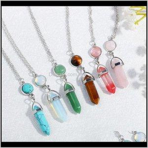 قلادة القلائد انخفاض التسليم 2021 الأحجار الكريمة الطبيعية قلادة أوبال روز الكوارتز شفاء بلورات مجوهرات للنساء الفتيات WVFXJ