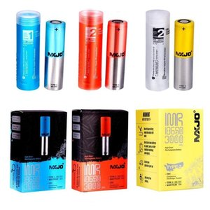 Original MXJO 18650 Battery Blackcell IMR18650 Type 1 2 Red Blue Yellow Skin Lithium Cells 3500mAh 20A 35A 3100mah Vape Mods