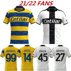 21 22 Parma Soccer Jerseys Cornelius Hernani Jr Gervinho 2021 2022 Karamoh Maglia de Calcio Inglese Football Shirt Grassi ADORANTE HOGAR AJUSTE DE LA TAPE DE CALIDAD 999