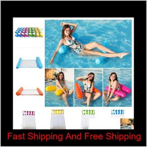 Sports Outdoors Fashion Floating Water Hammock Lounge Chair Summer Kickboards Float Swimming Pool Inflatable Bed Beach Playing Drop De