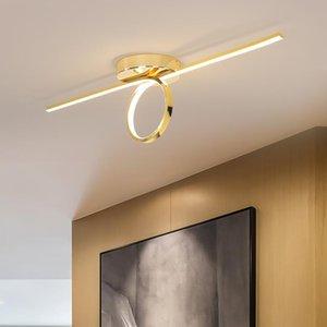 Gold Chrome Plated Stylish Modern Led Ceiling Lights For Foyer Corridor Bedroom Dining Room Lamp AC110-220V Fixtures