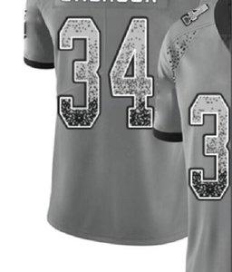 Professional Custom Jerseys NY 8 13 26 NYJ 14 OAK 4 28 34 84 PHI 9 10 11 PIT 19 30 Shirts Men Carbon Black Retro Flag Jersey a3