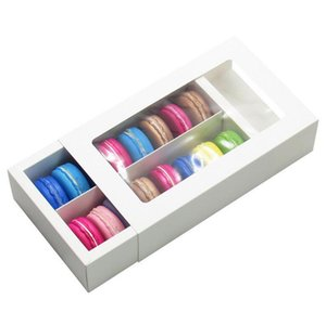 2021 Macaron Kutusu Kek Kutuları Ev Malzemeleri Kağıt Çikolata Kutuları Bisküvi Muffin Kutusu Bakeware Ambalaj Tatil Hediye Kutusu İki Boyutları ve