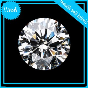 Losse wholesale 0.50ct Round Cut Loose Moissanite Getest As Real Test Positive Certificaat Fine Diamond Loss