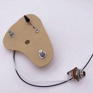 1 Set Electric Guitar Wiring Harness ( 2x 500K Pots 3-Way Switch Jack )#1161
