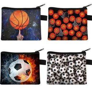 Football Basketball Coin Purse Children's Wallets Student Portable Key Card Holder Bag Sports Pocket Storage Bag Polyester Handbag G5452ZP