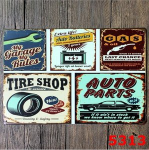 Custom Metal Tin Signs Sinclair Motor Oil Texaco poster home bar decor wall art pictures Vintage Garage Sign 20X30cm BWD6215