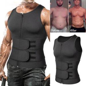 Hommes Corps Shaper Taille Sauna Terre Sweat Gilet Minceur sous-vêtements mince Shirt Fat Brûleur d'entraînement Débardeurs Shapewear