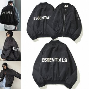 2021 Top Quality FEAR OF GOD autumn and winter cotton jacket pilot air force tops ESSENTIALS letter FOG double line