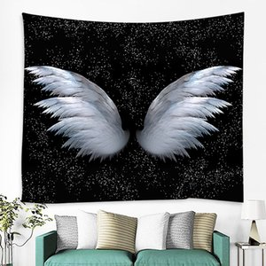 Bravo High Quality Tapestries Machine Washable Angel wings Tapestry Custom Wall Hanging Woven for living room background