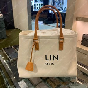 Women Handbag Tote Bag Horizontal Cabas Canvas Tan Bags Large Designer Handbags Designers Shoulder Crossbody Purses P2108066L