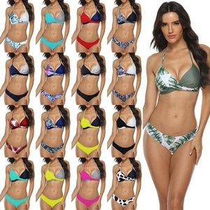 Mujeres sexy bikini conjunto empuje hacia arriba femenino traje de baño traje de baño nadar separado dos piezas brasileño traje de baño grande talla grande xxxl 1213 z2
