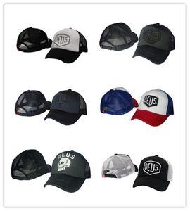 Good Quality DEUS Skull mesh strapback Unisex Embroidery 6 panel Snapback Hats golf Sport Brand Baseball Caps gorras bones Men Outdoor Women Adult HHH