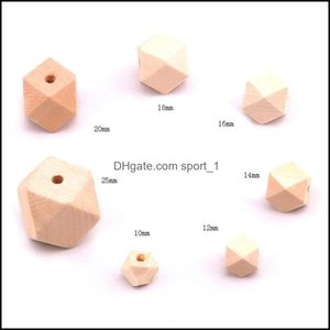 Jewelry10 12 14 16 18 20 25 30Mm Natural Unfinished Geometric Diy Loose Wooden Beads For Jewelry Wood Spacer Handmade Necklace 856 T2 Drop D