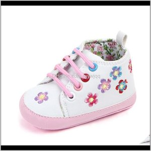 Walkers Infant Flower Baby Shoes Kid Boy Girl Soft Bottom First Walker Antislip Sole Casual Toddler Sneaker Md5Ln O0Qyn