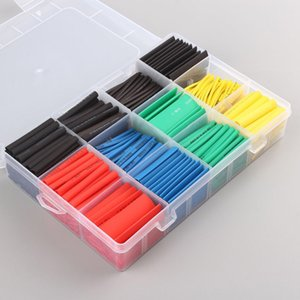 530PCS Heat Shrink Connectors 5 colors 12 sizes Assorted Polyolefin Heats Shrinks Cable Sleeve Wrap Wire Set Insulated Shrinkable Tube