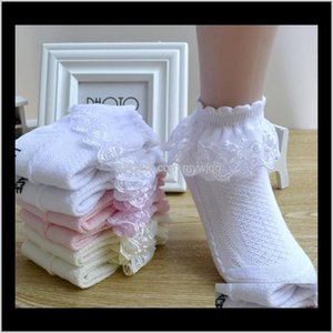Kids Lace Girl Ankle Socks Cute Ruffle Frilly White Pink Girls Sock Breathable Baby Footwear 4 Colors Dw5153 Tanlo Abln8