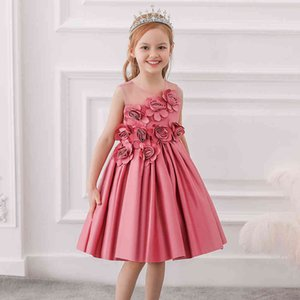 Summer Flower Girls Dress Princess Wedding Party Kids Dresses For Girls Costume Ball Gown Prom Children Clothing 3 6 8 10 Years X0401