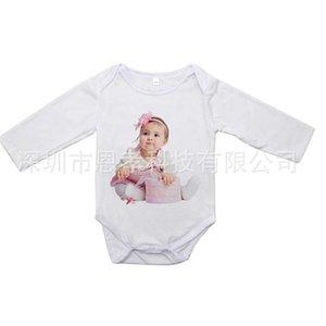Newborn Baby Clothes White Jumpsuit Diaper Pants Sublimation Blank Rompers Heat Tranfer Long Sleeve Kids Infants One-pieces Bodysuit Toddler Clothes H918VFZE