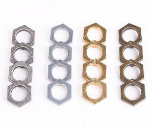 10pcs Quadrato Gear Gear Knuckle Dlimaterra Portatile Adorno anello all'aperto Adorno Autodifesa Attrezzature per utensili Autodifesa Top Quality Factory Direct